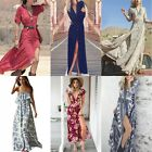 Sexy Women's Summer Boho Long Maxi Dress Evening Party Beach Dresses Sundress