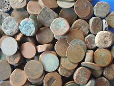 50 COINS LOT - Native States Mughal ** DAMAGED CONDITION ** Copper Coin - india