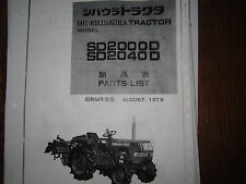 Shibaura SD2000 and SD2040 Tractor Parts Manual
