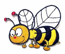 Bumble Bee Iron On Patch- Embroidered Appliques Animal Badge Insect Sew Crafts