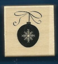 CHRISTMAS ORNAMENT SNOWFLAKE Snow Gift Tag NEW Wood Mount Craft RUBBER STAMP