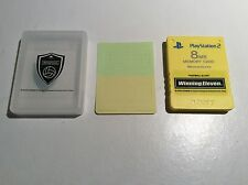 PS2 Memory Card 8MB Winning Eleven Yellow Sony Premium Series Free McBoot Japan