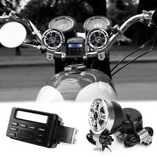 Motorcycle Handlebar Radio Audio FM MP3 Stereo Speaker Custom Chopper Cafe Racer