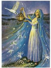 PAGAN WICCAN GREETING CARDS Brigid Snowdrop WENDY ANDREW Birthday Goddess CELTIC