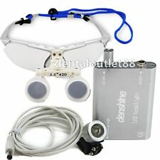 2016 new Dental Surgical Binocular Loupe 3.5X 420mm+LED Head Light Lamp