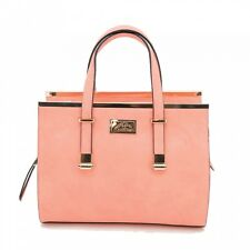 Camelon Cora Leather Concealed Carry Gun Tote Purse Peach Shoulder Bag 9""