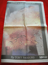 9/11~SEPTEMBER 11 2001~DAILY MIRROR NEWSPAPER~ONE YEAR ON~11/09/02~TWIN TOWERS