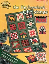 THE PATCHWORKER'S CHRISTMAS VINTAGE QUILTING PATTERN BOOK RITA WEISS PATCHWORK