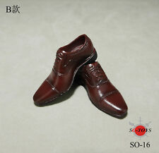 SO-TOYS 1/6 Scale Male Man Shoes Leather Shoes F Changable Feet Body