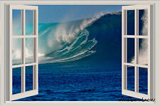 54x36 Ocean Waves Window View Color Wall Sticker Wall Mural HUGE!