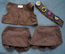 Build A Bear Clothes Lot GIRL SCOUT COOKIES VEST BADGE & SKORT brown Scouts