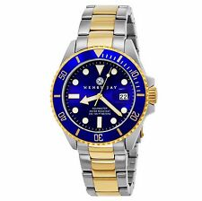 Henry Jay Men's Quartz 23K Gold Plated Stainless Steel Aquamaster Dive Watch