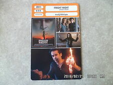 CARTE FICHE CINEMA 2011 FRIGHT NIGHT Anton Yelchin Colin Farrell Toni Collette