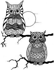 New Crafty Impressions Clear Stamps Zendoodles Owl Buddies Ready
