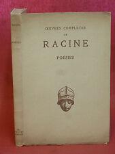 Jean RACINE - POÉSIES - avec une étude sur Racine et la Musique - 1936