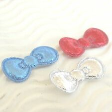 "150 pc x 7/8"" Patriotic Padded Shiny Felt Bow Appliques for Hello Kitty ST627US"