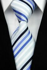 Pink Purple Yellow Red Blue Black Striped Classic Silk Men's Tie Necktie DO