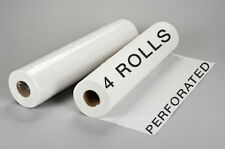 """4 Perforated Disposable Bed Rolls Sheets for Massage Facial Waxing 24"""" x 330'"""