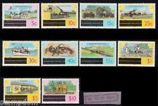 ST. KITTS 1980 o/p 5c-$10 without watermark MNH @M422