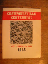 CRAWFORDSVILLE IN INDIANA TOWN HISTORY BOOK GENEAOLOGY OLD PHOTOS