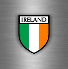 Sticker decal car vinyl motorcycle tuning jdm flag ireland irelande irish shield