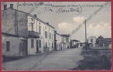 MANTOVA ACQUANEGRA SUL CHIESE 02 Cartolina viaggiata 1943 Foto TARTAROTTI