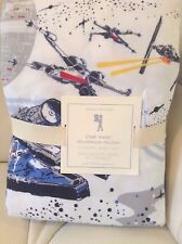 Pottery Barn Kids Star Wars Millennium Falcon Flannel Full Sheet Set NIP!