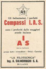 Z2114 Compassi I.A.S. La Filotecnica Ing. Salmoiraghi - Pubblicità d'epoca - Adv