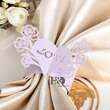 60pcs Love Tree Paper Napkin Ring Serviette Holder Wedding Banquet Decor Favor