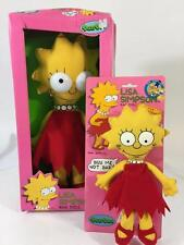 "Lisa Simpson Vtg Rag Doll Lot 2 Dan Dee 1990 15"" 10"" Buy Me Not Bart NRFB Plush"