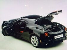 Autoart ALFA ROMEO 4C GLOSS Black Composite Model in 1/18 Scale New! In Stock!