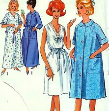 "Vintage 60s NIGHTIE Housecoat DRESSING GOWN Sewing Pattern Bust 34-36"" Sz 10 12"