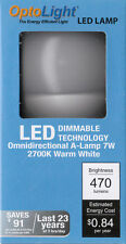 7 W DIMMABLE LED BULB, 40 WATT EQUVILENT, DIMS FROM 100% TO 10 % - OPTOLIGHT