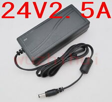 AC 100V-240V Converter Adapter DC 24V 2.5A 60W Power Supply Charger DC 5.5mm New