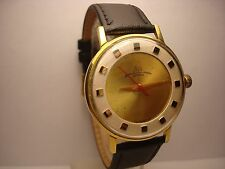 Luch 2209 wrist mens watch AU20 23 Jewels Slim Gold plated  USSR RARE Serviced