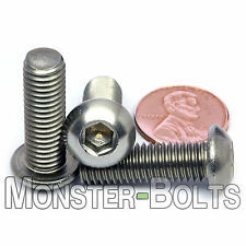 M8-1.25 x 25mm - Qty 10 - Stainless Steel BUTTON HEAD Socket Cap Screws ISO 7380