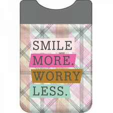 Add-A-Pocket Smile More Worry Less Wellspring Cell Mobil Phone Accessory 5432