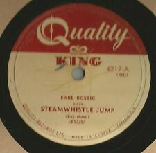 78 Rpm Record Earl Bostic Steamwhistle Jump / The Sheik Of Araby