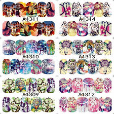 12Sheets Dreamcatcher 3D Water Transfer nail art decoration stickers decals Tips