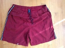 Gap Men's Red  Swimming Trunks/Shorts  Size XL 38-41 With Lining