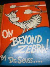 ON BEYOND ZEBRA (first edition), by Seuss, Random House 1955, book & dust jacket