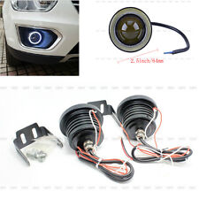 "2X 30W Car 2.5"" COB LED Driving Fog Lamp Work Light With Angel Eye Halo Ring"