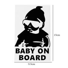Baby On Board Black Hangover Baby Sticker Sign Safety Vinyl Decal