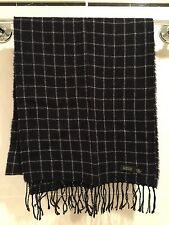 "Barneys New York Men's Cashmere Scarf, 68"" L , Black Check"