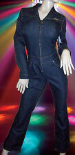 NEW FUBU Daymond John DENIM stretch BLUE JEAN JUMPSUIT vintage 1990's sz - 9/10