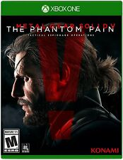 Metal Gear Solid V: The Phantom Pain (Xbox One, Solid Snake Konami) Brand New