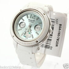 BGA-150-7B2  White Casio Baby-G Ladies Watches Analog Digital Neon Packy Resin