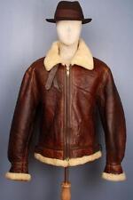Splendido Vintage b-3 Pelle Di Pecora Inverno Pelle VOLARE VOLO USAAF Giacca Grande