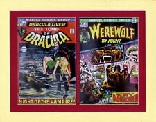 TOMB Of DRACULA 1 & WEREWOLF By NIGHT 12 COVERS PRINT PROFESSIONALLY MATTED