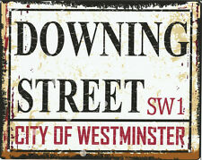 DOWNING STREET METAL SIGN RETRO VINTAGE STYLE SMALL london games room shop